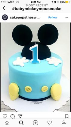 Fiesta Mickey Mouse, Mickey Mouse First Birthday, Mickey Mouse Baby Shower, Minni Mouse Cake, Dummy Cake, Mickey 1st Birthdays, First Birthday Photography, Fiesta Baby Shower, Mickey Cakes