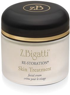 Z. Bigatti Re-Storation is a fine-tuned moisturizing formula, rich in alpha, beta, and cyclic hydroxys, vitamins A, E, K and B-complex, grapeseed and green tea extracts, as well as superoxide dismutase, the skin's own potent antioxidant enzyme.