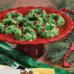 Christmas Wreaths Recipe - I made these with my Mom when I was a child. I can't wait to make these with my kids this year!