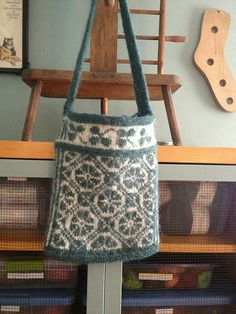 Beautiful knitted and felted Scandinivian bag