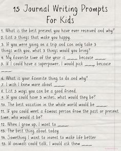 Free Printable Journal Writing Prompts For Kids - Mom Always Finds Out Show kids how awesome handwriting is, and how awesome they can be. Free Printable: Journal Writing Prompts For Kids Journal Prompts For Kids, Journal Topics, Writing Prompts For Kids, Kids Writing, Teaching Writing, Writing Activities, 4th Grade Journal Prompts, Story Writing Ideas, Middle School Journal Prompts