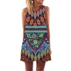 Vintage Style Women Sleeveless Straight Floral Print Tank Dress 2016 Summer Elegant Club Party Dresses Plus Size WAIBO BEAR