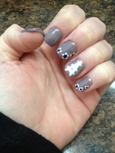Paris theme gel nails by The Henhouse in Cochrane Alberta Canada 403-932-4640.