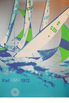 Munich 1972 Olympics Poster - Otl Aicher... don't know y but I like this a lot. Colors and all