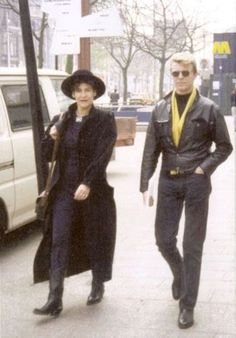 "bowiepills: ""David Bowie with Coco Schwab through the years part 1 2 """