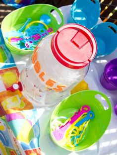 Bubbles for kids birthday party