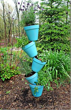 bought all the stuff to do this - it will be my sunday project.  I am going to paint the pots different colors all bright