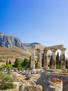 Ancient Ruins at Corinth, Greece http://www.mediteranique.com/hotels-greece/