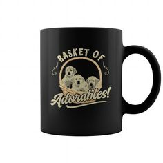 Basket Of Adorables Golden Retriever Dog Coffee Mug