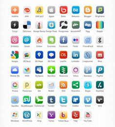 1152 Vector Social Media Icons Pack in 16 great collections ...