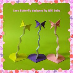 Love Butterfly Designed By Me Use Rectangle Paper I Arranged Francis Ows Book Of