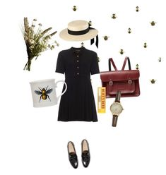 """""""Bee with you"""" by honey-beth ❤ liked on Polyvore featuring Timorous Beasties, The Cambridge Satchel Company, Mich Dulce, Burt's Bees, Yves Saint Laurent, Magpie, J.Crew and Abigail Ahern"""