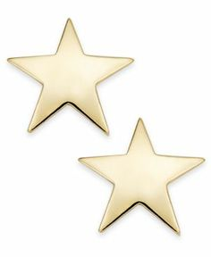 Give your style a stellar look with these lustrous star stud earrings. Crafted…
