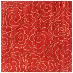 A rich rose color and stylish floral design make this rug a bold addition to your home. Hand-tufted from 100-percent New Zealand wool and featuring a cotton canvas backing, this rose handmade wool rug will provide you with years of softness and warmth.