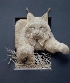 Another fantastic work of art from Calvin Nicholls' (Canada) paper sculptures!