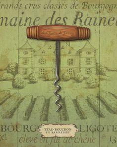 Antique Corkscrew I Lámina