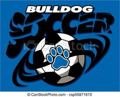 Vector - bulldog soccer - stock illustration, royalty free illustrations, stock clip art icon, stock clipart icons, logo, line art, EPS picture, pictures, graphic, graphics, drawing, drawings, vector image, artwork, EPS vector art