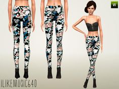 ILikeMusic640's Floral Jeans 2 AF