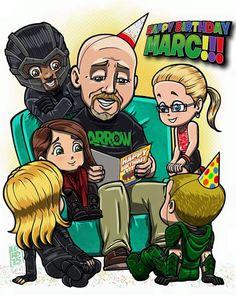 Happy Birthday Marc!!! Hope you have an awesome day!!! #MarcGuggenheim #StephenAmell #EmilyBettRickards #DavidRamsey #WillaHolland #KatieCassidy #Arrow #HappyBirthdayGuggie #Lordmesaart
