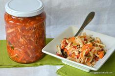 Zarzavat amestec pentru ciorbe in sos de rosii la borcan   Savori Urbane Pickles, Shrimp, Salsa, Gem, Canning, Ethnic Recipes, Food, Plating, Jelly