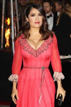 Salma Hayek attends the British Fashion Awards 2015 at London Coliseum on November 2015 in London, England. Salma Hayek Style, Salma Hayek Body, Salma Hayek Bra Size, Beautiful Celebrities, Beautiful Actresses, Beautiful People, Beautiful Women, British Fashion Awards, Salma Hayek Pictures
