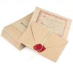 20 Brown Kraft Mini Envelopes
