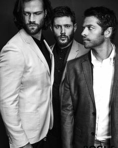 New released pic of Jared, Jensen & misha in Rogue Magazine  Cr: Rogue Magazine on Twitter