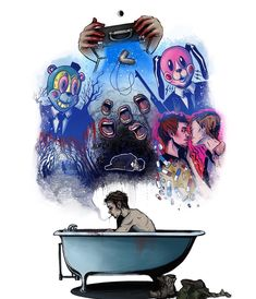 Ideas funny love illustration movies for 2019 Hunger Games, Breaking Bad, Pixiv Fantasia, Under My Umbrella, Umbrella Art, Pink Umbrella, Baguio, Funny Illustration, Book Show