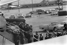 ST-527-13-63. Transfer of President John F. Kennedy's Casket to Air Force One - John F. Kennedy Presidential Library & Museum
