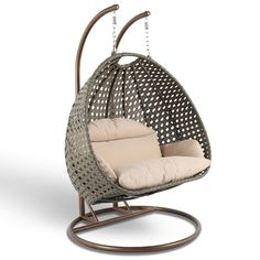 2 Person Heavy Duty Double Hammock Porch Swing Chair Outdoor Swinging Chair New – desinghandmade Wicker Swing, Egg Swing Chair, Hanging Swing Chair, Hanging Chair From Ceiling, Swinging Chair, Swing Chairs, Hanging Chairs, Hanging Basket, Egg Chair
