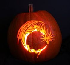 Dragon Pumpkin Carving by Thoughts-Existence on DeviantArt - Real Time - Diet, Exercise, Fitness, Finance You for Healthy articles ideas Amazing Pumpkin Carving, Easy Pumpkin Carving, Pumpkin Art, Halloween Pumpkins, Halloween Crafts, Halloween Decorations, Halloween Ideas, Printable Pumpkin Stencils, Different Forms Of Art