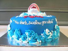Jaws Shark Birthday Cake at NashvilleSweets.com