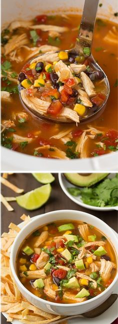 Slow Cooker Chicken Tortilla Soup - Only 15 minutes of easy prep, and it's incredibly delicious!