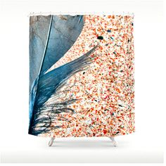 BLUE FEATHER on Beach Made to Order Shower Curtain  by BonnieBruno, $88.50