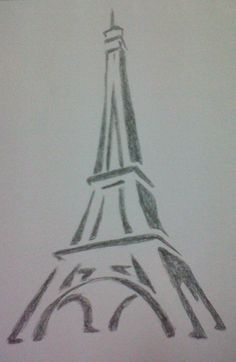 Eiffel Tower Drawing by mido0oafellay