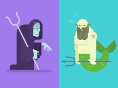 Hades and Poseidon by Gregory Hartman #Design Popular #Dribbble #shots