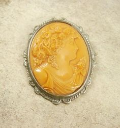 Vintage VIctorian Cameo brooch  LARGE Beautiful by vintagesparkles, $75.00