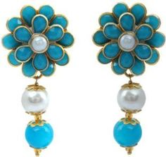 Waama Jewels Girls Golden Plating mothers day gift Brass Drop Earring