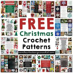Free Christmas Crochet Patterns http://oombawkadesigncrochet.com/2016/09/free-christmas-crochet-patterns.html