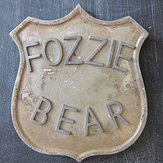 fozzie bear badge...i don't even know what this was for, but i love it nonetheless