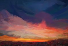 It is supposed to be an impressionistic sunset. Or something