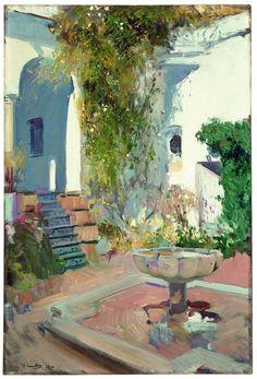 Rincón del Grutesco del Alcázar de Sevilla, 1910 Óleo sobre lienzo, 95 x 63,5 cm Madrid, Museo Sorolla [inv. 852] BPS 2542