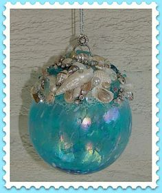 Aqua Seashell Ornament | Flickr - Photo Sharing!