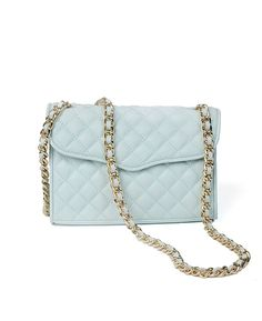 Rebecca Minkoff 'Mini Affair' Quilted Light Turquoise Handbag