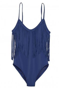 19 one piece swimsuits that are fashionable, flattering and chic...Calypso fringe swimsuit