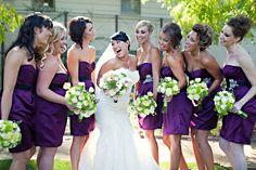we're lovin the bridesmaids dress color