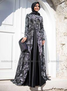 Francois J. Dress Brukat, Batik Dress, Islamic Fashion, Muslim Fashion, Evening Dress Patterns, Evening Dresses, Abaya Fashion, Fashion Dresses, Muslim Dress