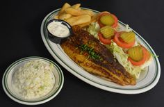 Blackened Sutchi Po' Boy with the causeway's best cole slaw