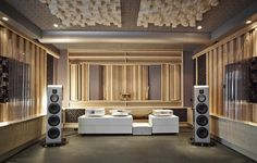 Listening Room You are in the right place about Audio Room design Here we offer you the most beau. Som Home Theater, Audiophile Speakers, Hifi Stereo, Hifi Audio, Audio Speakers, Sound Room, Room Acoustics, Plafond Design, Audio Room