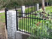 Startling Useful Ideas: Fence Wall Steel fence landscaping plants.Front Yard Fence Horizontal fence art for kids. Brick Fence, Concrete Fence, Front Yard Fence, Farm Fence, Metal Fence, Dog Fence, Fence Stain, Pallet Fence, Bamboo Fence